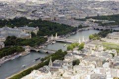 επάνω από το Παρίσι Στοκ Εικόνα