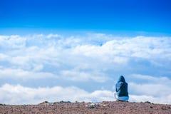 επάνω από το σύννεφο Στοκ Εικόνες