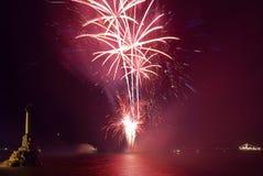 επάνω από το χαιρετισμό πυρ& Στοκ Εικόνα