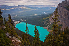 Επάνω από το Lake Louise, Καναδάς Στοκ Φωτογραφίες