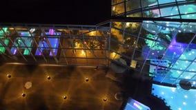Επάνω στην άποψη στη νύχτα Therme Βουκουρέστι απόθεμα βίντεο