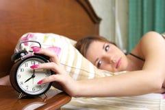 επάνω στην ξυπνώντας γυναίκα Στοκ φωτογραφία με δικαίωμα ελεύθερης χρήσης