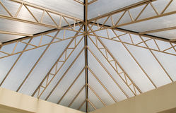 Επάνω στο πλαίσιο στεγών άποψης και τη διαφανή αφηρημένη κατασκευή στεγών Στοκ εικόνες με δικαίωμα ελεύθερης χρήσης
