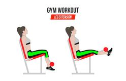 επέκταση ποδιών Επέκταση ποδιών στον προσομοιωτή athletic exercises Ασκήσεις σε μια γυμναστική Απεικόνιση ενός ενεργού τρόπου ζωή απεικόνιση αποθεμάτων