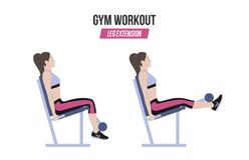επέκταση ποδιών Επέκταση ποδιών στον προσομοιωτή athletic exercises Ασκήσεις σε μια γυμναστική Απεικόνιση ενός ενεργού τρόπου ζωή Στοκ Εικόνα