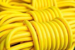 επέκταση σκοινιού κίτρινη Στοκ Εικόνες