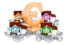 Επένδυση ακίνητων περιουσιών και επιχειρησιακή έννοια τρισδιάστατη απόδοση Στοκ Εικόνες