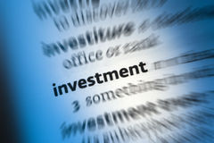 Επένδυση - χρηματοδότηση στοκ φωτογραφία