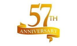 57 επέτειος κορδελλών έτους Στοκ Εικόνες