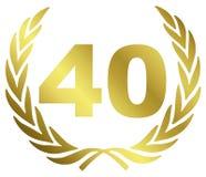επέτειος 40 Στοκ Φωτογραφία