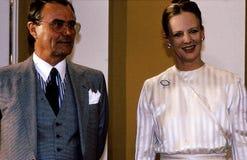ΕΠΈΤΕΙΟΣ ΒΑΣΙΛΙΣΣΑΣ MARGTRETHE 50 YEARA ΓΕΝΈΘΛΙΑ Στοκ Φωτογραφίες
