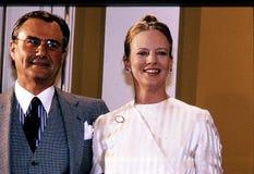 ΕΠΈΤΕΙΟΣ ΒΑΣΙΛΙΣΣΑΣ MARGTRETHE 50 YEARA ΓΕΝΈΘΛΙΑ Στοκ Εικόνες