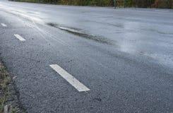 Επίβουλος παγωμένος δρόμος Στοκ Εικόνες