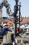 Επίγεια μηχανήματα κατασκευής Στοκ φωτογραφία με δικαίωμα ελεύθερης χρήσης