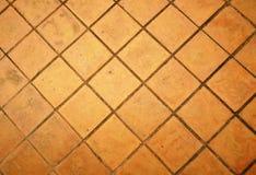 Επίγεια τούβλα, δάπεδο τούβλου Στοκ φωτογραφία με δικαίωμα ελεύθερης χρήσης