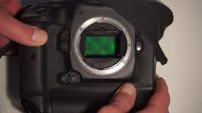 Επίδειξη μιας ψηφιακής κάμερα χωρίς έναν φακό απόθεμα βίντεο