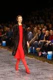 Επίδειξη μόδας παλτών γουνών Στοκ Εικόνες