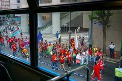 Επίδειξη της κινεζικής Εργατικής Ημέρας στοκ εικόνες