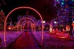 Επίδειξη Χριστουγέννων του χωριού αστικών τάξεων στοκ εικόνες