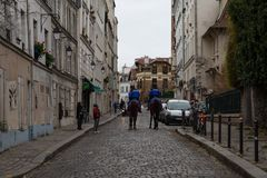 """Επίδειξη """"Gilets Jaunes στο Παρίσι, Γαλλία στοκ φωτογραφία με δικαίωμα ελεύθερης χρήσης"""