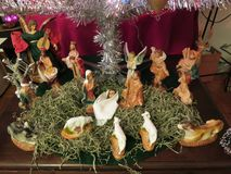 Επίδειξη Nativity Χριστουγέννων διακοπών στοκ εικόνα