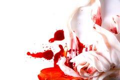 Επίδεσμοι και αίμα Στοκ Εικόνα