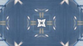 Επίδραση καθρεφτών overpass διανυσματική απεικόνιση