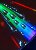 Επίδραση πρισμάτων στην επιφάνεια του CD Στοκ φωτογραφία με δικαίωμα ελεύθερης χρήσης
