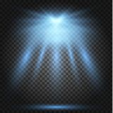 Επίδραση φω'των πυράκτωσης, φλόγα, έκρηξη και αστέρια διανυσματική απεικόνιση