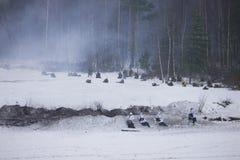 επίθεση ΙΙ στρατού κόκκινο ww αναδημιουργίας Στοκ Εικόνα