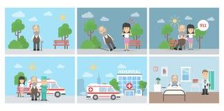 Επίθεση καρδιών infographic ελεύθερη απεικόνιση δικαιώματος
