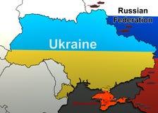 Επίθεση σε μια στρατιωτική μονάδα στην Κριμαία χάρτης Στοκ εικόνα με δικαίωμα ελεύθερης χρήσης
