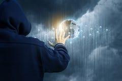 Επίθεση στο επιχειρησιακό δίκτυο Στοκ εικόνες με δικαίωμα ελεύθερης χρήσης