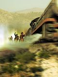 Επίθεση στο τραίνο ελεύθερη απεικόνιση δικαιώματος