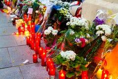 Επίθεση τρομοκρατίας του Παρισιού Στοκ Φωτογραφία
