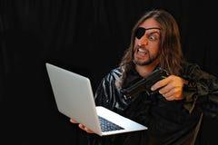 Επίθεση χάκερ Στοκ εικόνα με δικαίωμα ελεύθερης χρήσης