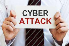 Επίθεση Cyber Στοκ Φωτογραφίες