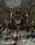 Επίθεση Lizardmen Στοκ εικόνα με δικαίωμα ελεύθερης χρήσης