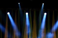 Επίκεντρα σκηνών που χρησιμοποιούνται για τις συναυλίες και τις διάφορες θεατρικές αποδόσεις, στοκ φωτογραφίες