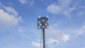 Επίκεντρο υψηλής δύναμης, υπαίθριο στάδιο με τον ουρανό και σύννεφα Στοκ φωτογραφίες με δικαίωμα ελεύθερης χρήσης