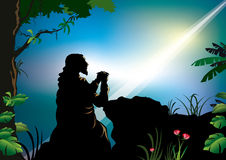 επίκληση του Ιησού Στοκ Φωτογραφία