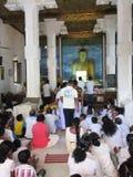 Επίκληση σε Sri Mahabodhi σε Anuradhapura/τη Σρι Λάνκα Στοκ Εικόνες