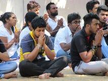 Επίκληση σε Sri Mahabodhi σε Anuradhapura/τη Σρι Λάνκα Στοκ Φωτογραφίες