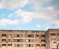επίπεδα γκρίζα σπίτια ομάδ&o Στοκ φωτογραφία με δικαίωμα ελεύθερης χρήσης