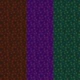 Επίπεδα σκοτεινά αφηρημένα βιολογικά στοιχεία Απλή ζωηρόχρωμη διακόσμηση διανυσματική απεικόνιση