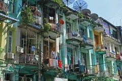 Επίπεδα στο στο κέντρο της πόλης yangon στοκ φωτογραφίες με δικαίωμα ελεύθερης χρήσης