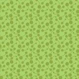 Επίπεδα φωτεινά αφηρημένα βιολογικά στοιχεία Απλή hand-drawn, διαστιγμένη, αναδρομική πράσινη διακόσμηση για το κλωστοϋφαντουργικ διανυσματική απεικόνιση