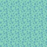 Επίπεδα φωτεινά αφηρημένα βιολογικά στοιχεία Απλή hand-drawn, διαστιγμένη, αναδρομική μπλε διακόσμηση για το κλωστοϋφαντουργικό π διανυσματική απεικόνιση