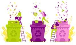 Επίπεδες ταξινόμηση και διάθεση αποβλήτων απεικόνισης ελεύθερη απεικόνιση δικαιώματος