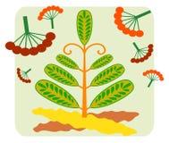 Επίπεδη απεικόνιση Δάσος παραμυθιού το καλοκαίρι Διανυσματική απεικόνιση